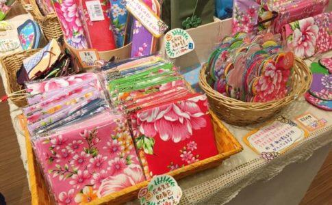 雲彩軒で販売されている客家花布のお土産