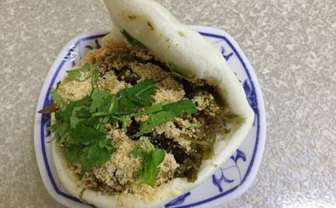 台北にある松山割包の台湾バーガー(グアバオ)