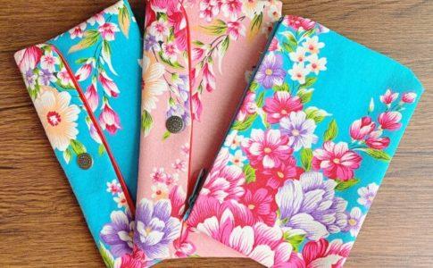 台湾の永楽市場で購入した客家花布の雑貨