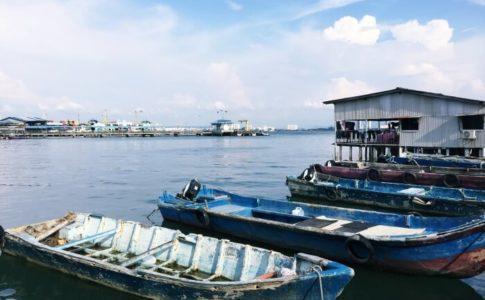 姓周橋(chew jetty)からの眺め
