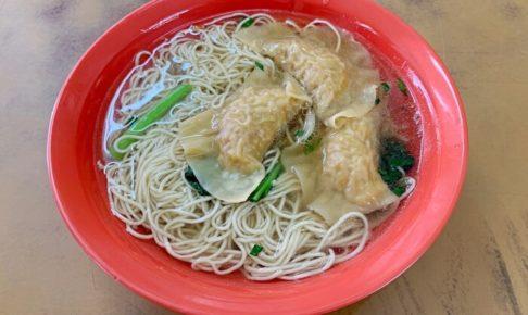 九香雲吞麵の水餃子入りスープ麺