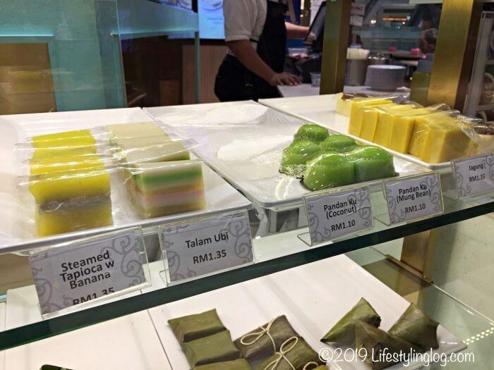 マレーシアにあるNyonya Colors(ニョニャカラーズ)で販売されているKuih(クエ)