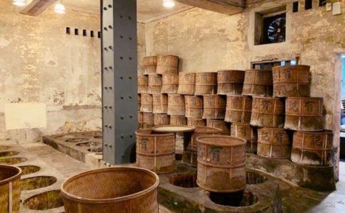 有記名茶(WANG TEA)にある茶葉の焙煎室