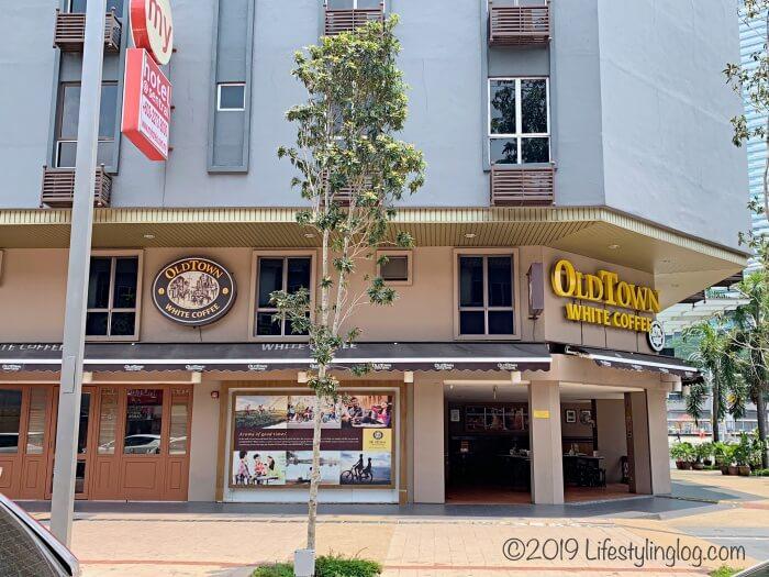 クアラルンプールのブリックフィールズにあるオールドタウンホワイトコーヒーの店舗