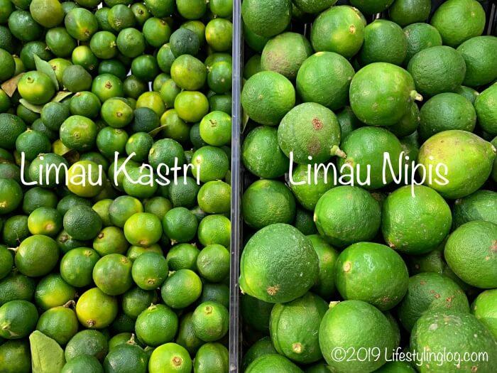Limau KastriとLimau Nipisの比較
