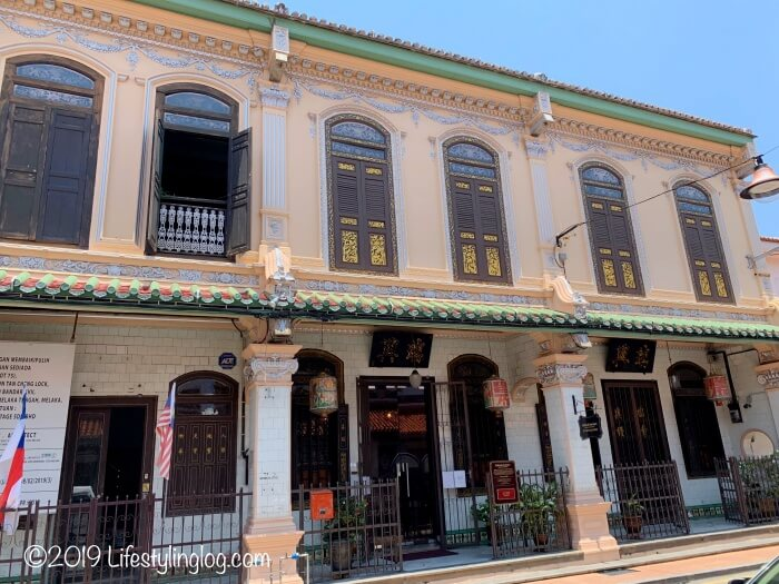 マラッカにあるババニョニャヘリテージ博物館(Baba & Nyonya Heritage Museum)の外観