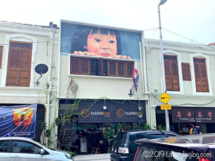 Petaling Streetに面したBubble Bee Cafeの入口
