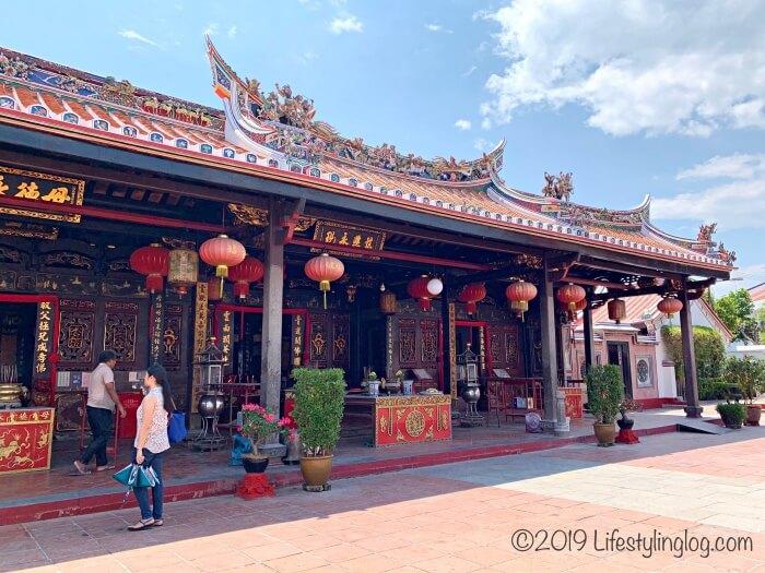 マラッカにある青雲亭(Cheng Hoon Teng)の敷地内
