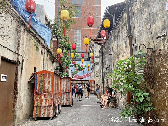 鬼仔巷(Kwai Chai Hong)の中にある空間