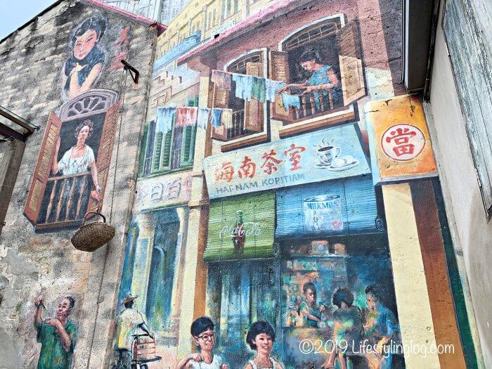 鬼仔巷(Kwai Chai Hong)にある巨大な壁画(ウォールアート)