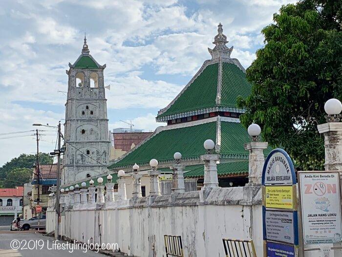 マラッカにあるMasjid Kampung Kling(カンポンクリンモスク)