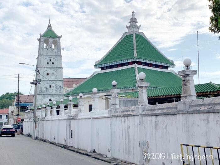 カンポン・クリン・モスク(Masjid Kampung Kling)のミナレット