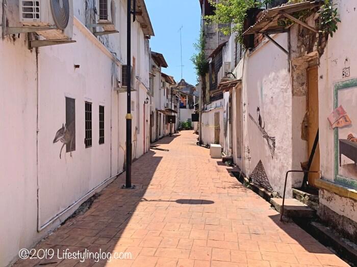 マラッカの路地裏にあるストリートアート