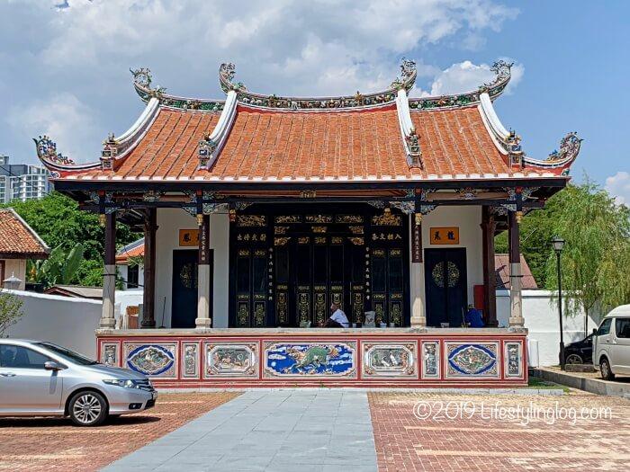 青雲亭(Cheng Hoon Teng)の向かいにあるテンプルステージ