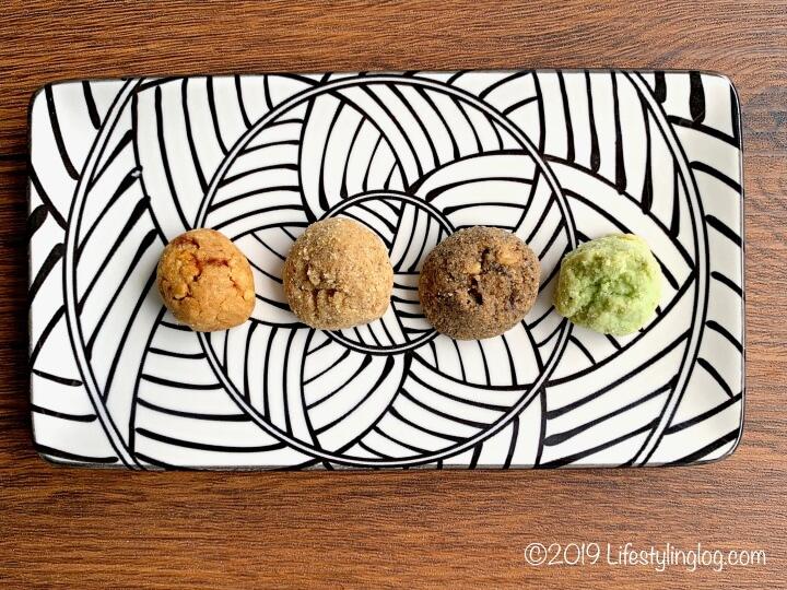 マラッカのThe Cookie Barで販売されているコーヒーやパンダンフレーバーのクッキー