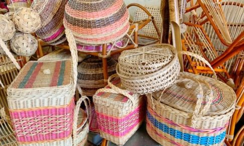 マラッカにある悅興(YAT HENG)で販売されている籐(ラタン)商品