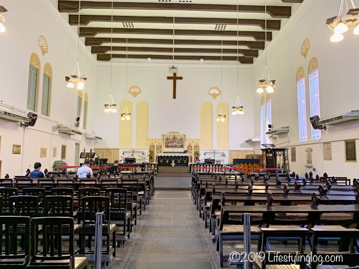 マラッカのキリスト教会(Christ Church Melaka)の内部