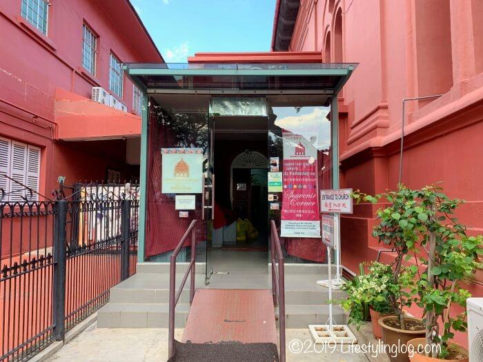マラッカのキリスト教会(Christ Church Melaka)の入口