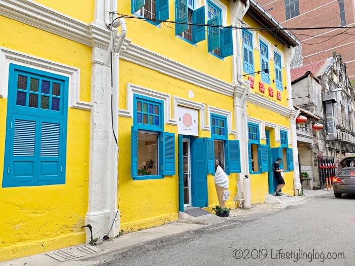 クアラルンプールのチャイナタウンにある青青(Pandan Republic)がある建物