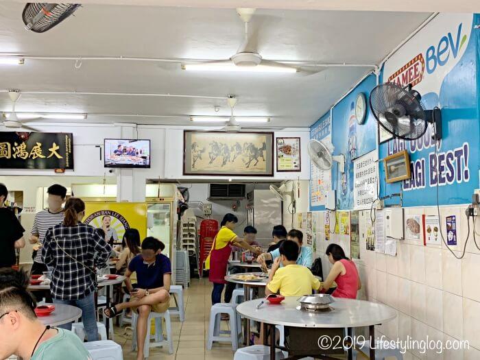 正宗万里香沙爹朱律(Restoran Ban Lee Siang)の店内