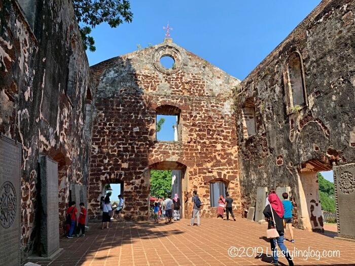 マラッカのセントポール教会の跡地