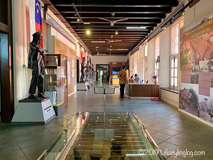 Stadthuys(スタダイス)内にある博物館のフロア