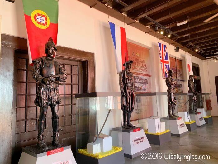 Stadthuys(スタダイス)の博物館にあるマラッカを占領した歴史を示す展示物