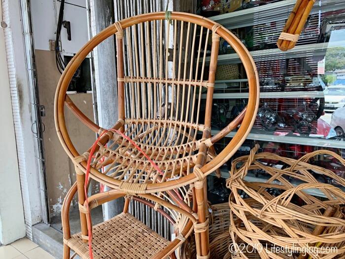 The Basket Shopで販売されている籐(ラタン)の椅子