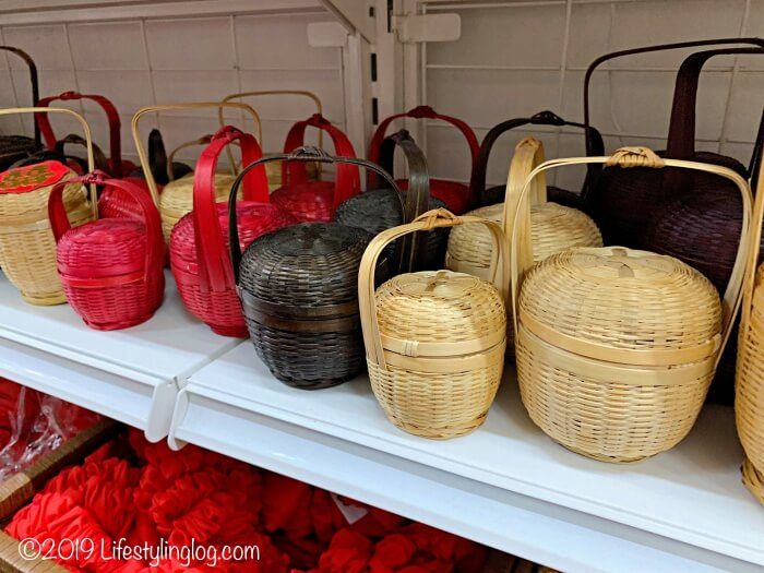 The Basket Shopで販売されている竹製バスケット