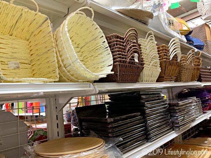 The Basket Shopの店内で販売されているバスケット商品