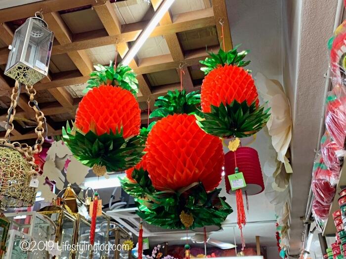 The Basket Shopで販売されているパイナップルの飾り