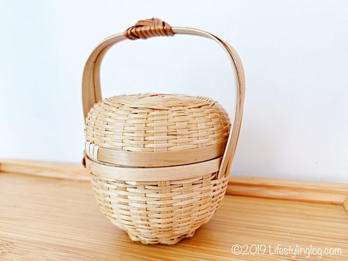 The Basket Shopで購入した竹製のミニバスケット