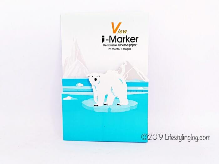 北極熊がデザインされた知音文創の付箋(i-Marker)
