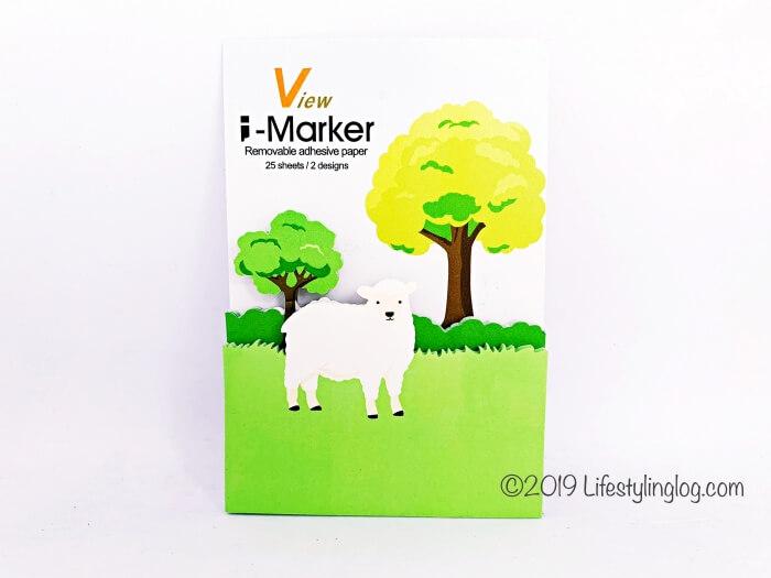 羊がデザインされた知音文創のi-Markerの付箋