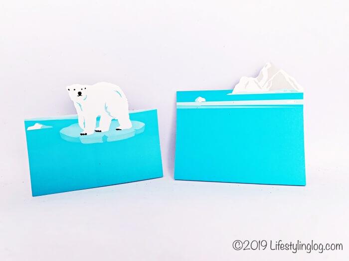 2デザインになっている知音文創のi-Markerの北極熊の付箋