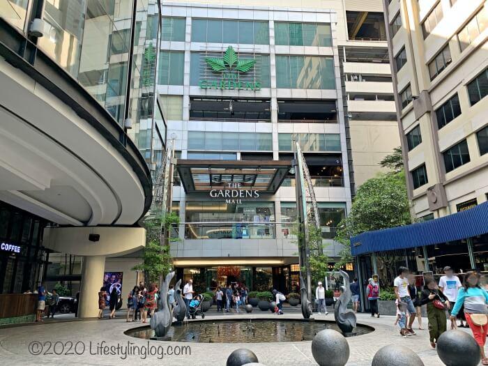 Mid Valley Megamall(ミッドバレーメガモール)とThe Gardens Mall(ザ・ガーデンズモール)を繋ぐ地上の道