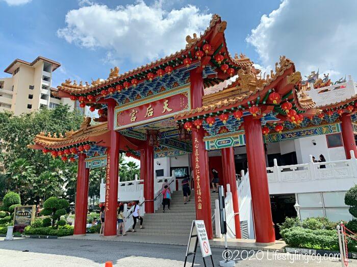 クアラルンプールの天后宮(Thean Hou Temple)の入口