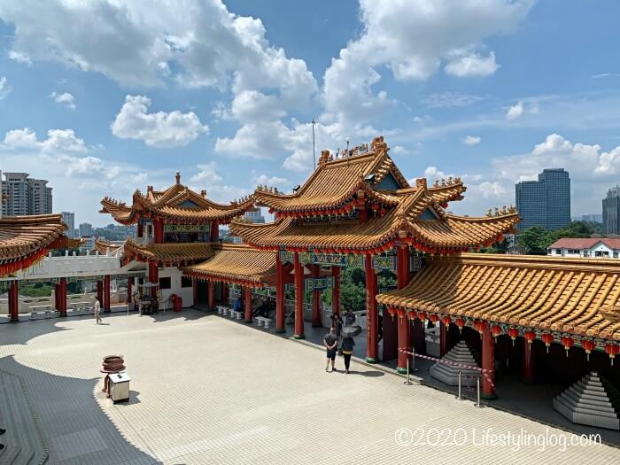 クアラルンプールの天后宮(Thean Hou Temple)のメインゲート