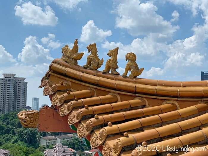 クアラルンプールの天后宮(Thean Hou Temple)に施された装飾
