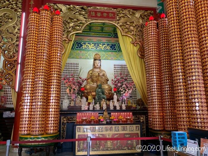 クアラルンプールの天后宮(Thean Hou Temple)に祀られている観音菩薩