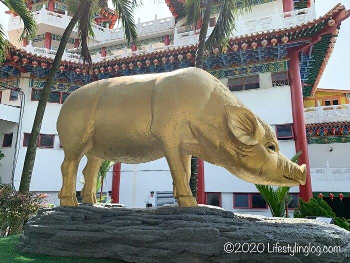 クアラルンプールの天后宮(Thean Hou Temple)の敷地内にある亥