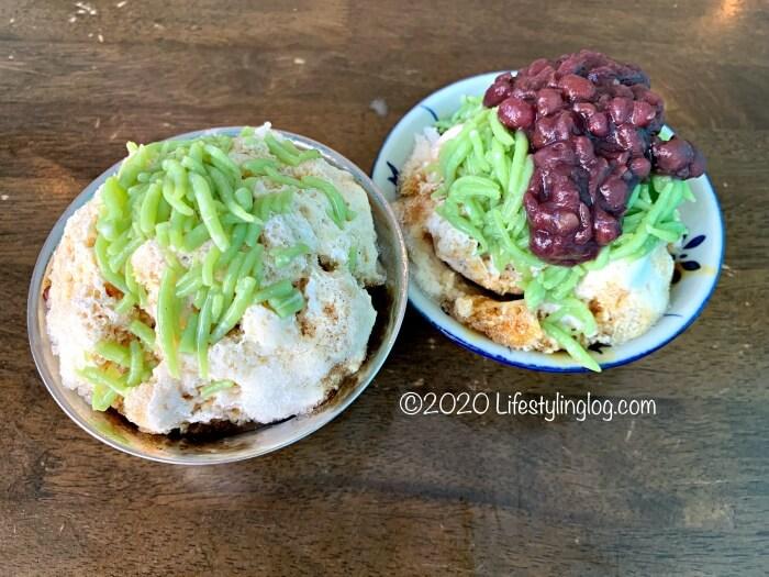 Kwong Wah Ice Kacang(光華)のアイスカチャン(ABC)とチェンドル(Cendol)