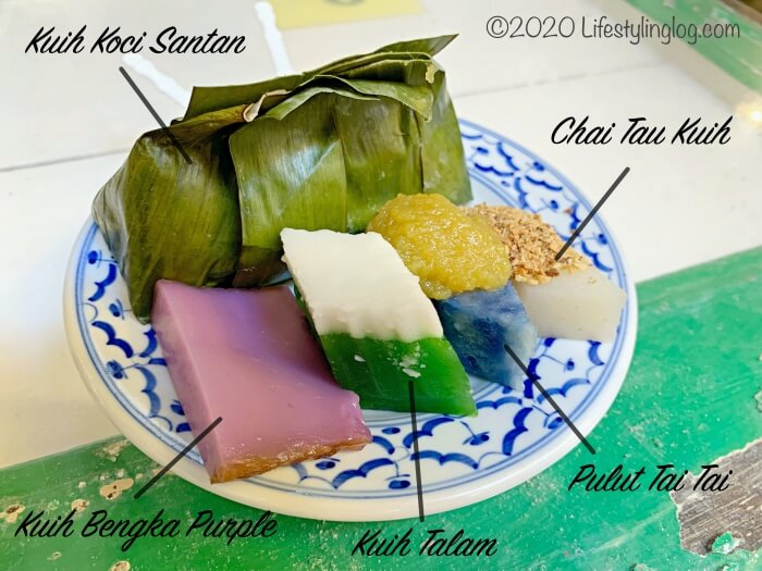 Moh Teng Pheow Nyonya Koay(莫定標娘惹粿廠)で注文したニョニャクエ