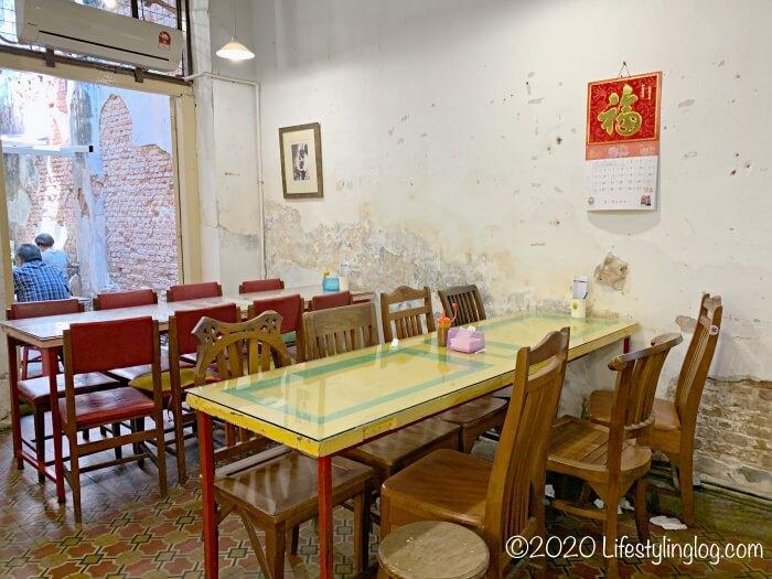Moh Teng Pheow Nyonya Koay(莫定標娘惹粿廠)の飲食スペース