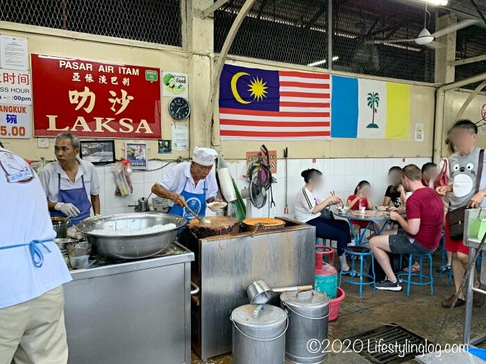 Penang Air Itam Laksaの2代目オーナー