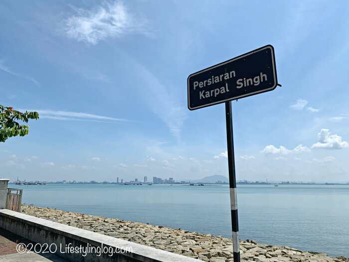 JelutongにあるKarpal Singh Driveの標識