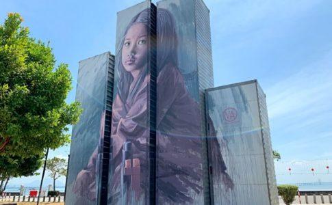 ペナンのPenang International Container Art Festival (PICAF)用に描かれたコンテナアート