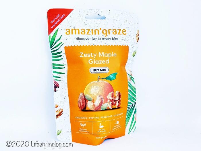 Amazin' GrazeのZesty Maple Glazedミックスナッツ
