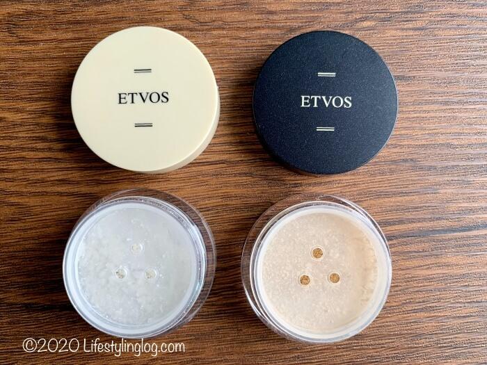ETVOS(エトヴォス)のナイトミネラルファンデーションとマットスムースミネラルファンデーションの色味