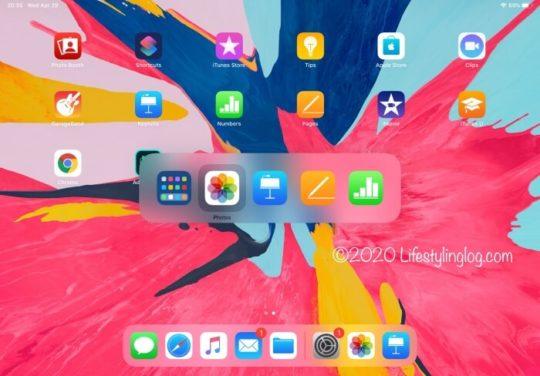 iPad ProでCommand+Tabでアプリケーションの終了をする画面